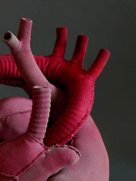 Textilobjekt Herz